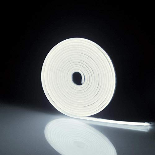 SUNXK 7 kleuren lichten vakantie slingers fee reeks neon lamp RGB LED licht bar partij DIY decoratieve tape diode SUNXK (Emitting Color : White, Wattage : 5m)