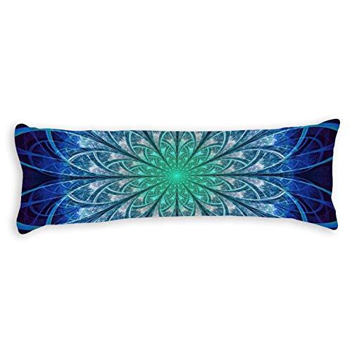Promini Hermosa funda de almohada con diseño de copos de nieve, color azul bebé, con cierre de cremallera oculta para sofá, banco, cama, decoración del hogar, 50,8 x 137,1 cm