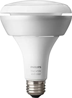 Philips Hue BR30 630 Lumen 60W Equivalent Dimmable LED Smart Flood Downlight for 5-6 inch recessed cans (2nd Gen), 16 million colors, Hub Required, Works with Alexa, Apple HomeKit and Google Assistant