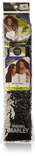 JANET COLLECTION AFRO TWIST BRAID COLOR 1B (OFF BLACK)
