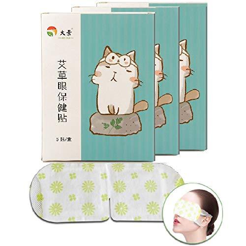 MSYR Mascarilla Suave para Calentar el Vapor con Vapor, Parche para la máscara de Vapor del Ojo Parche autocalentable para el Cuidado del Ojo Parches para Dormir Parche para el Ojo Piel Bolsas (3pcs)