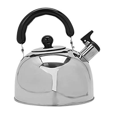 MorNon Heats Quickly Whistling Teapot Stainless Steel Efficiently 2.7 Quart Tea Kettle with Ergonomic Handle Whistling Teapot for Induction Cooker Gas and Stove