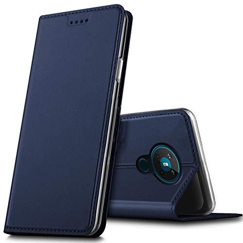 Verco Handyhülle für Nokia 5.3, Premium Handy Flip Cover für Nokia 5.3 Hülle [integr. Magnet] Book Hülle PU Leder Tasche, Blau