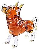 ZKDY Decantadores de Animales Figurín de Cristal de Perro Pastor Grande, decantador de Licor de bucal de Plomo para Bourbon, Whisky, Whisky, Ron Decantador de Whisky