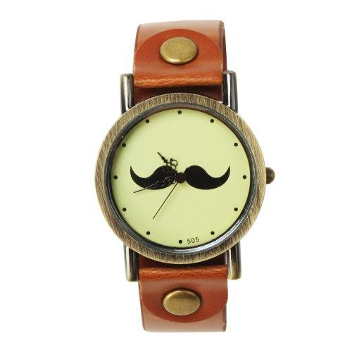 SSITG Reloj Reloj de Pulsera Reloj de Cuarzo Barba Trend Blogger Retro Vintage Watch Regalo Gift ss00147
