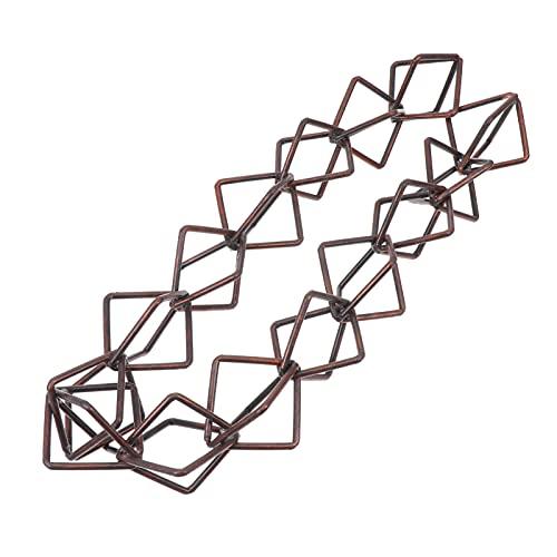 YARNOW Cadenas de Lluvia Bucle Directo Cadena de Lluvia de Aleación de Aluminio Decorativa Cadena de Lluvia Reemplazo para Canalones