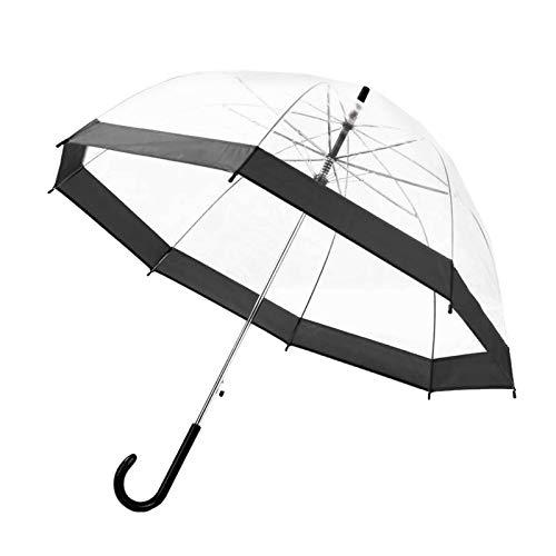 NAIXUE - Ombrello trasparente a manico lungo, ultra leggero, da donna, per bambini, femminile, con ombrelli trasparenti, con manico lungo, a prova di pioggia