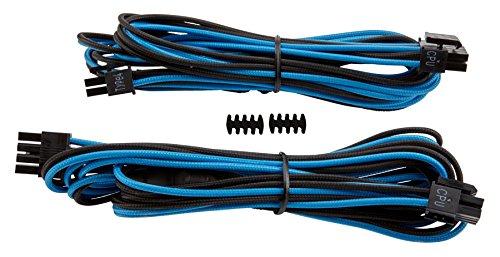 Corsair CP-8920171 EPS12V/ATX12V - Cable (macho/macho, RMi series, RMx series, SF series, tipo 4 PSU), Azul (Blue/Black)