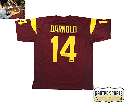 Sam Darnold Autographed/Signed USC Custom Maroon Jersey