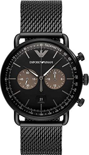 Emporio Armani Reloj Cronógrafo para Hombre de Cuarzo con Correa en Acero Inoxidable AR11142