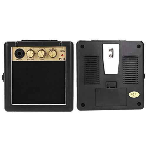 Amplificador de guitarra, elegante mini amplificador de guitarra, profesional PG-3 3W Amplificador de guitarra acústica Bajo eléctrico para guitarra eléctrica Guitarrista de escenario