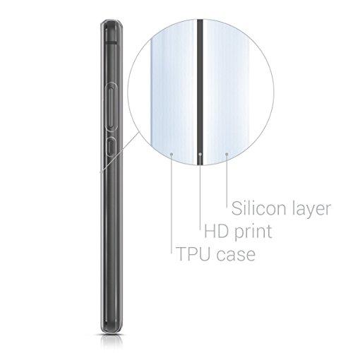 kwmobile Huawei P9 Lite Hülle - Handyhülle für Huawei P9 Lite - Handy Case in Don't Touch My Phone Design Weiß Schwarz - 4