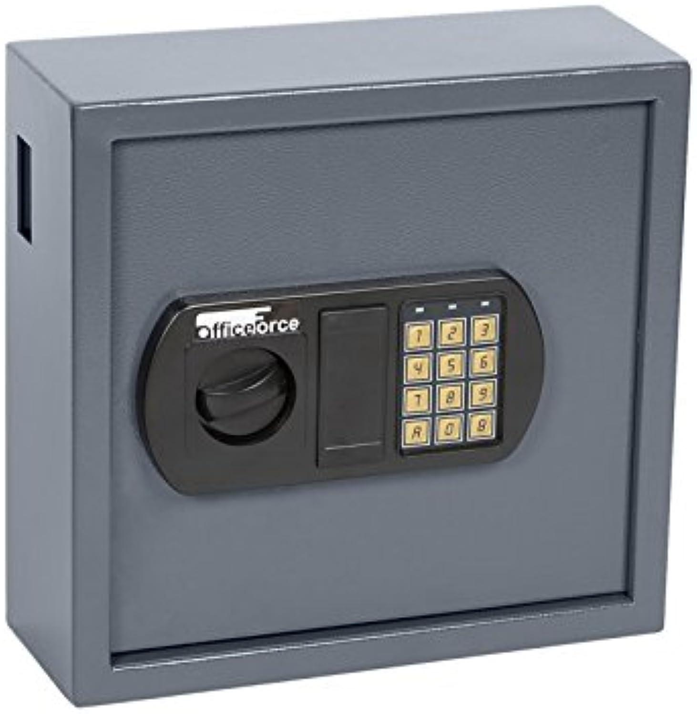OfficeForce Digitaler Schlüsselkasten, Schlüsselschrank, Sicherheit, bis 25 Schlüssel, Doppellbolzen Codeschloss (20100)