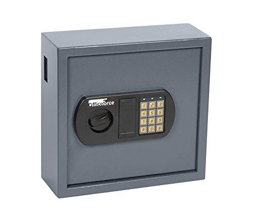 OfficeForce® Digitaler Schlüsselkasten, Schlüsselschrank, Sicherheit, bis 25 Schlüssel, Doppellbolzen Codeschloss (20100)