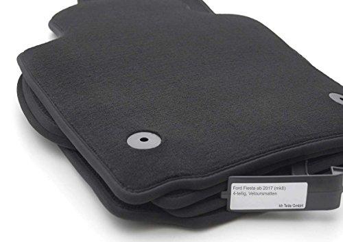 kh Teile Fußmatten MK8 Velour Automatten Original Qualität 4-teilig Schwarz