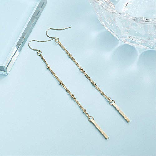 Geschenke Ohrringe Einfache Quaste Metall Ohrringe für Frauen minimalistischen Stil Legierungsdrähte Lange Quaste D Ohrringe Geschenk für Mädchen