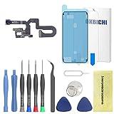 OKBICHI Cámara frontal para iPhone 7 Plus módulo de cámara frontal sensor de proximidad micrófono Flex cable reemplazo - herramientas de reparación con protector de pantalla