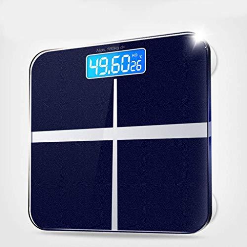 Intelligente weegschaal Digitale vetweegschaal Lichaamssamenstelling Display voor gewicht en vetlager (Kleur : A)