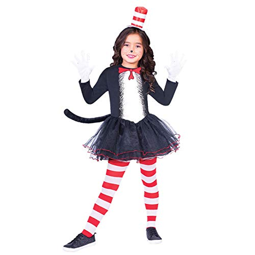 Dr. Seuss Kater mit Hut Kleid - Kostüm Kinder Mädchen