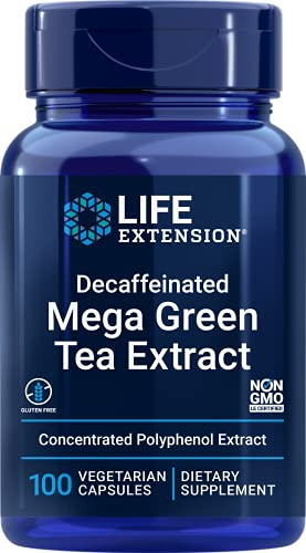 Life Extension, Mega Green Tea Extract ( grüner Tee Extrakt, entkoffeiniert ), 725 mg, 100 vegane Kapseln, sojafrei, glutenfrei
