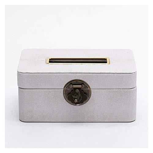 Caja para Pañuelos de Papel Caja de tejido facial de papel de cuero rectangular con estilo Hay tres estilos de cuadro Dispensador de tejidos de escritorio para elegir Caja de Portapañuelos