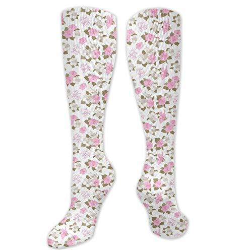 Calcetines extraños, románticos ramos de novia con flores de hibisco, diseño exótico,...
