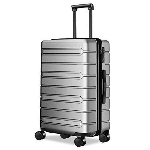 Hardshell Luggage, Thick and Durable with Spinner Wheels and TSA Lock Spinner Expandable Suitcase for Adults Child Traveling-28'-Gray