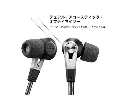 デノンDenonAH-C820カナル型イヤホンハイレゾ音源対応/デュアルドライバーブラックAH-C820-BK