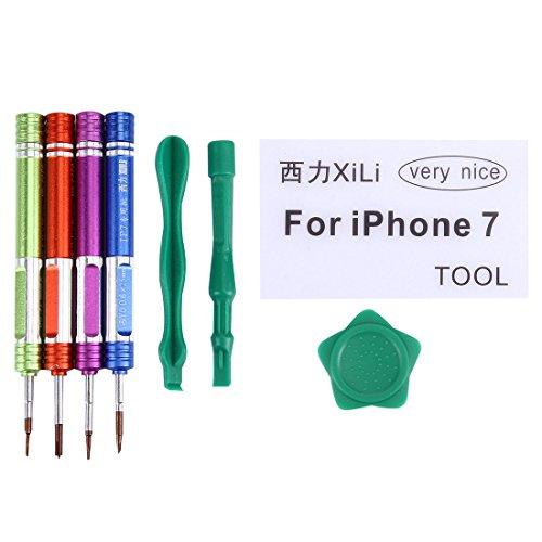 Dmtrab Kit de Herramientas Abiertas de reparación de Destornillador Profesional apropiado for iPhone 7/7 Plus
