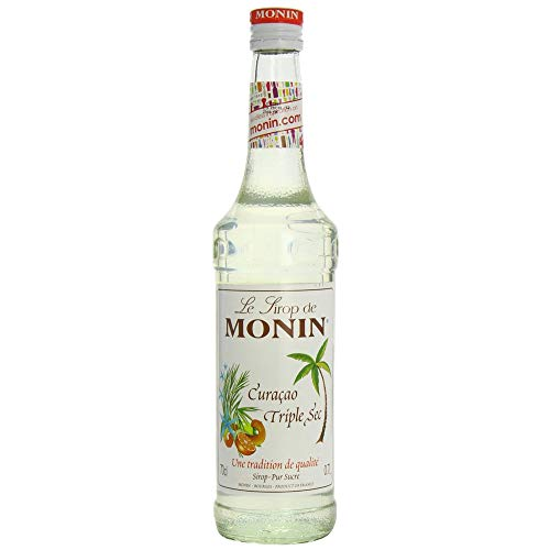 Monin Orange Curacao Triple Sec Sirop 70 cl - Lot de 6 Sirop Cocktail Non Alcoolique