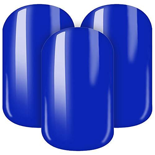 STICKER GIGANT Nagelfolie -'Marina', Blau/Dunkelblau unifarben einfarbig, 22 selbstklebende Nail...