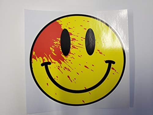 Bloody Smiley Face| Decal Vinyl Sticker | Cars Trucks Vans Walls Laptop | Skateboard Car Truck