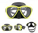 NKJGFV Máscaras de Buceo para Adultos Buceo antiniebla Buceo de Silicona Equipo de Deportes acuáticos Gafas de natación de Buceo Green
