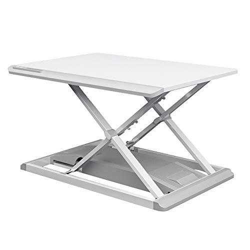 Liergou Stehpult Stand Up Schreibtisch Höhenverstellbare elektrische Stehpult Steh Desktop-Computer-Arbeitsplatz for Heim und Büro (Color : White, Size : One Size)