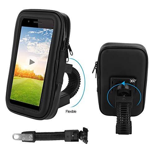 Soporte universal para teléfono celular, soporte de soporte para teléfono móvil de montaje, motocicleta a prueba de agua moto bicicleta teléfono navegación GPS soporte soporte bolsa funda sopo
