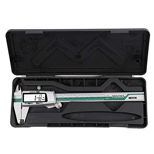Pantalla de acero inoxidable digital Calibre 150 mm Fracción/MM/pulgadas de alta precisión de acero inoxidable LCD vernier de la herramienta de medición (Color : ET50)
