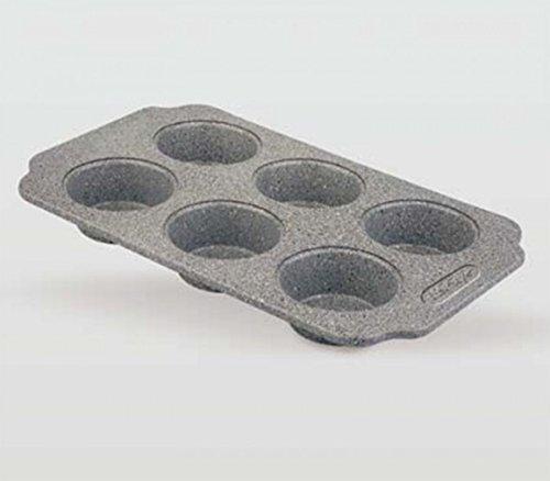 Life Style - Molde de Horno para Magdalenas - 6 Muffins - Acero al Carbono - Recubrimiento...