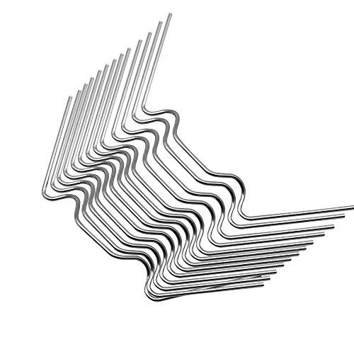 Dylan-EU 90 Stück Gewächshausklammern Extra Dick 1.6mm Rostfrei Edelstahl Glasklemmen für Gewächshaus & Glashaus Hohlkammerstegplatten und Sturmfest 95mm×35mm×1.6mm