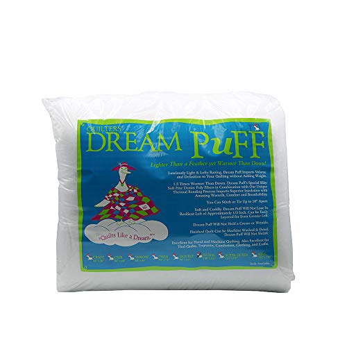 Quilters Dream Puff White Poly Queen Batting