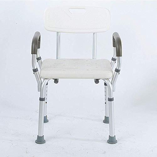 LXDDJZXQ Andador para Ancianos Walker, Ligero, Plegable, Ajustable, de conducción médica, Asiento Cuadrado Desmontable con Respaldo, reposabrazos, Silla de baño