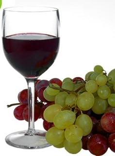 Juego de 6 copas de vino de plástico de policarbonato