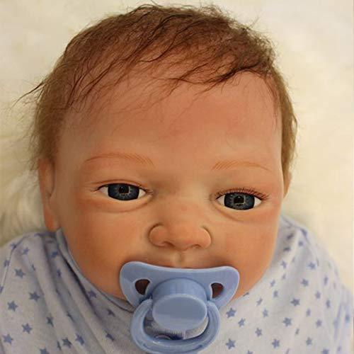 Nicery Muñecas Reborn Vinilo de Silicona Suave para Niños y Niñas Cumpleaños Bebe Reborn 18-20 Inch 48-50 cm Juguetes Reborn Baby Doll gx45-2oes