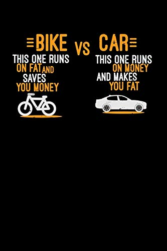Bike VS Car: 6x9 Bicycle   blank with numbers paper   notebook   notes