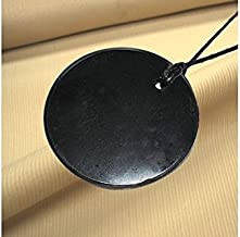 Boviswert 'Offre. En schungite Pendentif,Huge Circle 5x 0,5cm, env. 10g, avec certificat.