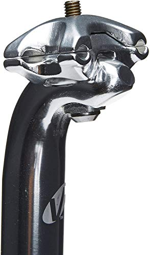 Vavert. Lightweight Alloy Layback Micropost Adjustable Bike Mountain Bike Replacement Seatpost 25.0mm Seat Pin 400m Long Silver