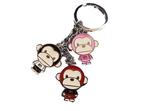 Fat-catz-copy-catz Cute Animated 3 piece monkey chimp enamel keyring charm