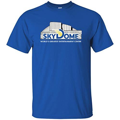 kanyeah SkyDome, Retro, 1990's, Roger's Center, Toronto, Argos, Bluejays Men's T-Shirt,Royal,XL