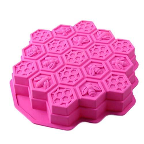 djryj DIY Molde de Silicona para Tarta, diseño de Panal de Abeja, Chocolate, pastelería, para decoración del hogar