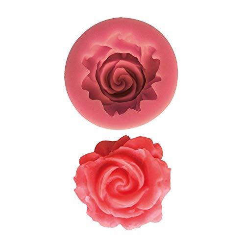 Moule silicone 3D Rose pour pâte à sucre, cake design, décoration gateau...