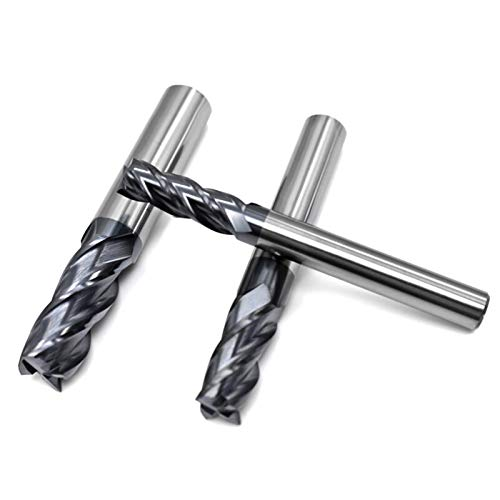 Xianglaa-top bearing router bit, Milling Cutter Alloy Coating Tungsten Steel Tool CNC Maching EndMill Milling Cutter Kit Milling Machine Tools, (Cutting Edge Diameter : 8.0mmX60L)
